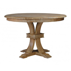 Orleans Round Dining Table - Whitewash
