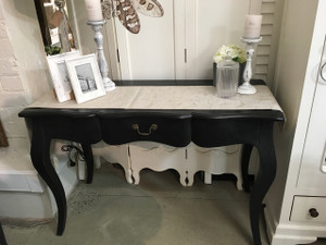 Louis French Desk - Black Size: 80H x 122W x 51D  (cm)