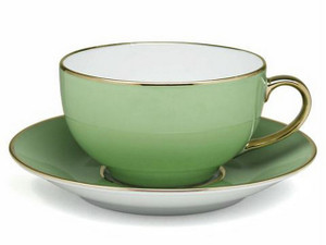 Limoges Legle Breakfast Cup & Saucer - Pastel Green