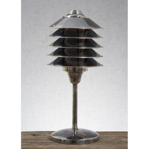 Melrose Table Lamp - Antique Silver