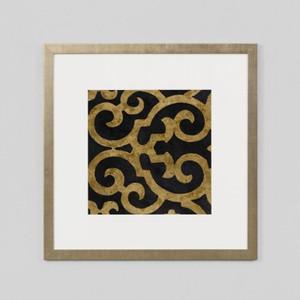 Framed Print: Lattice Ebony