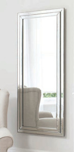 """Chambery Leaner Mirror Pewter 60.5x26.5"""""""" Gallery Direct"""""""""""