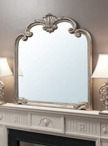 "Palazzo Mirror Silver 41x45"""" Gallery Direct"""""