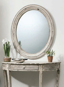"Stoddard Mirror Cream 30.5x36"""" Gallery Direct"""""