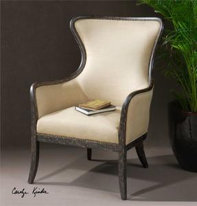 Zander Wing Chair - by Uttermost