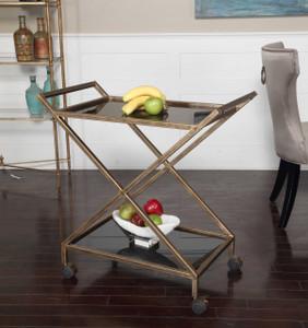 Zafina Bar Cart by Uttermost