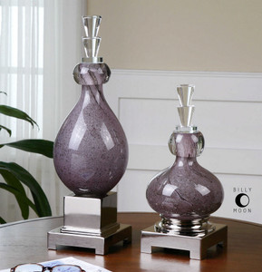 Charoite Bottles S/2 by Uttermost