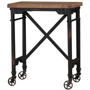 Mercantile Side Table - Size: 66H x 53W x 33D (cm)