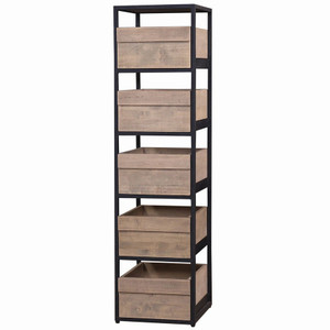 Urban Storage Shelves - Size: 157H x 41W x 46D (cm)