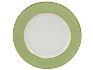 Limoges Legle Side/Cake Plate - Pastel Green