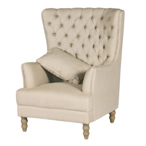 Monarch Wing Chair - Linen by Maison Living
