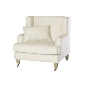 Lyon Wing Armchair - Natural Linen