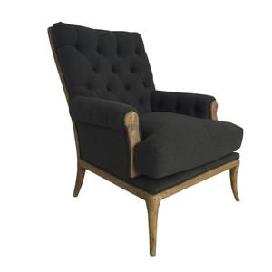 Consort Linen Armchair - Charcoal