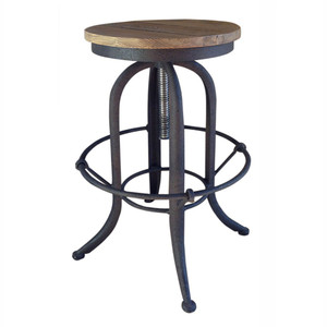 Toledo Industrial Counter Stool - Natural Iron