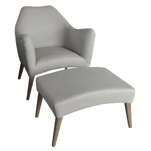 Fredrik Armchair and Ottoman