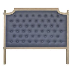 Francesca Tufted Queen Headboard - Charcoal Linen