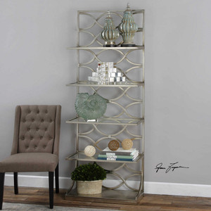 Lashaya Etagere Silver by Uttermost