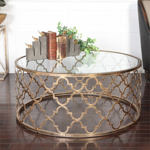Quatrefoil Coffee Table - by Uttermost