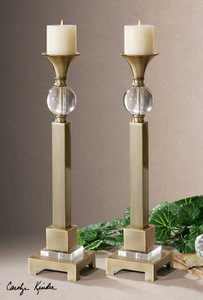 Euron Candleholders S/2 by Uttermost