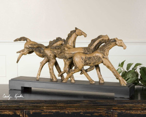 Wild Horses Sculpture by Uttermost
