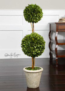 Preserved Boxwood Two Sphere Topiary by Uttermost