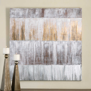 Sawyer's Fence Hand Painted Canvas by Uttermost