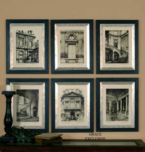 Paris Scene Framed Prints S/6 by Uttermost