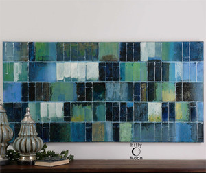 Glass Tiles Hand Painted Canvas - by Uttermost