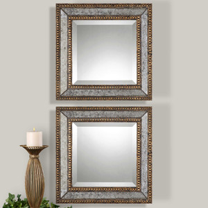 Norlina Square Mirrors S/2 by Uttermost