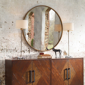 Junius Round Mirror by Uttermost