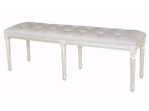 Marquis Tufted Ottoman (Antique White)