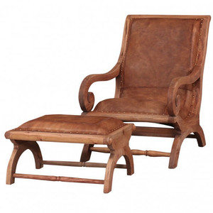 Lazy Chair with Footstool set - Size: 91H x 64W x 99D (cm)