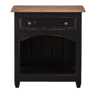 Craftsman Open Bedside - Size: 65H x 61W x 38D (cm) BHD DRW