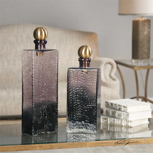 Benedetto Bottles Set/2 by Uttermost