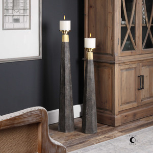 Pons Candleholders S/2 by Uttermost