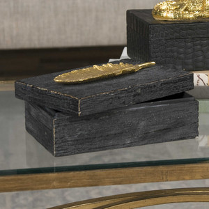 Gold Leaf Box by Uttermost