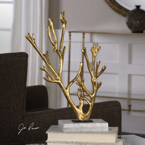 Golden Coral Sculpture by Uttermost