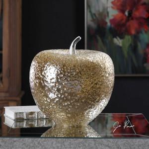 Golden Apple Sculpture by Uttermost