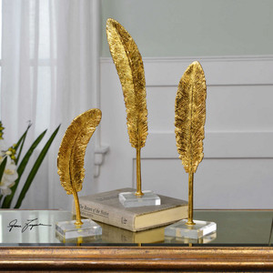 Feathers Sculpture S/3 by Uttermost