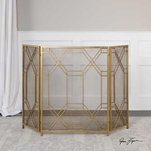 Rosen Fireplace Screen by Uttermost
