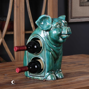 Oink Wine Holder by Uttermost