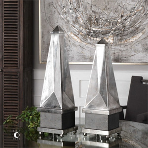 Armanno Obelisk Set/2 by Uttermost