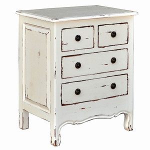 Paris 4 Drawer Chest - Size: 80H x 66W x 48D (cm)