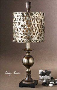 Alita Champagne Buffet Lamp by Uttermost