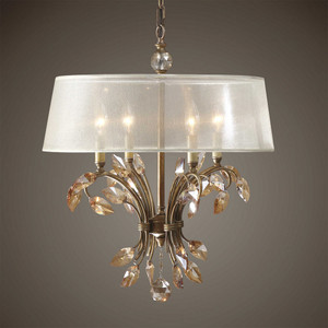 Alenya 4 Lt.  Chandelier by Uttermost