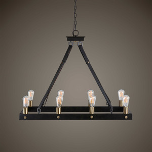 Marlow 8 Lt.  Rectangle Chandelier by Uttermost