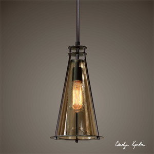 Frisco 1 Lt Mini Pendant - by Uttermost