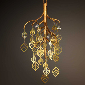 Folia 3 Lt. Mini Pendant by Uttermost