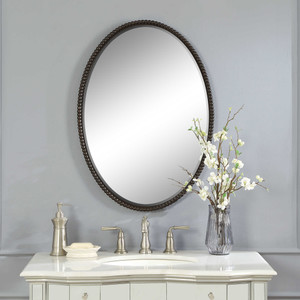 Sherise Bronze Oval Mirror by Uttermost
