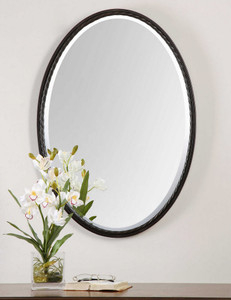 Casalina Oil Rubbed Bronze Oval Mirror by Uttermost